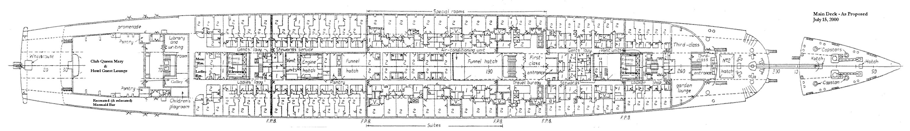queen mary cabin plan