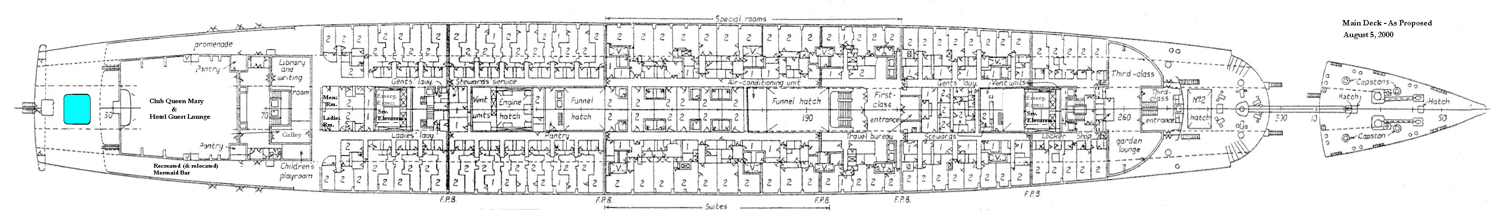 Queen mary deck by deck deckplan illustrating our preservation and adaptive reuse plan option a baanklon Gallery