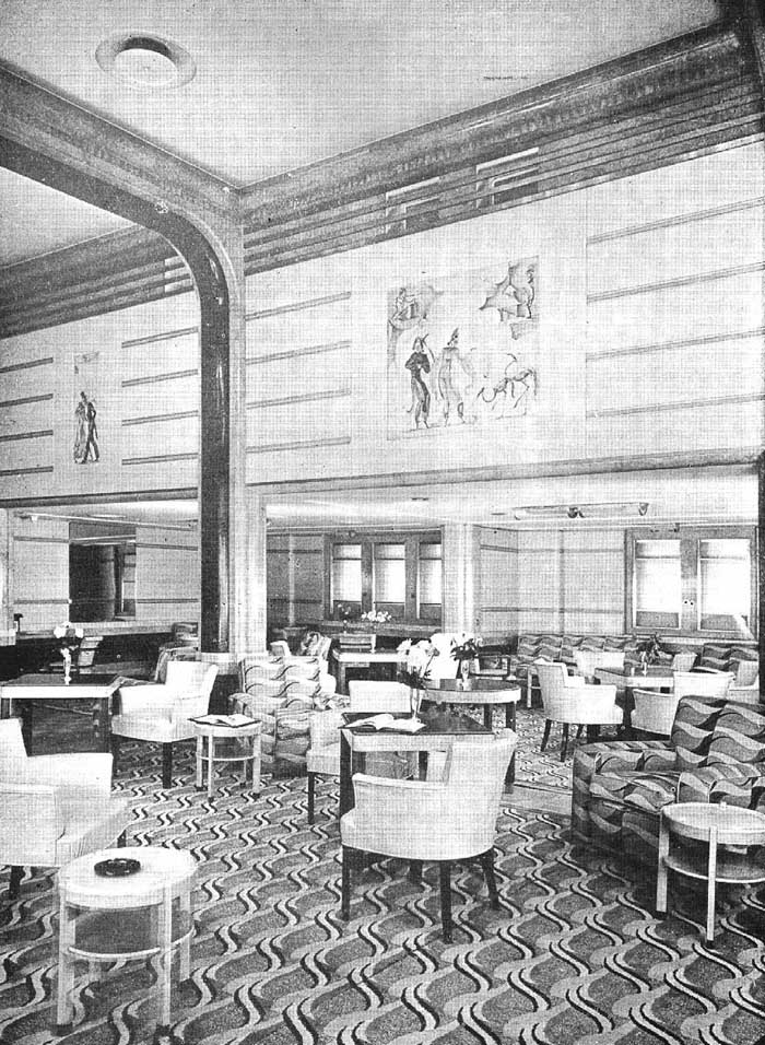 The Second Class Main Lounge